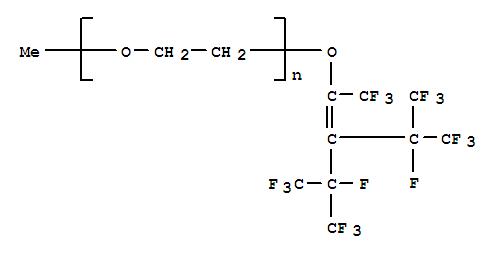 CAS:83731-88-8_α-甲基-ω-[[3,4,4,4-四氟-2-[1,2,2,2-四氟-1-(三氟甲基)乙基]-1,3-二(三氟甲基)-1-丁烯基]氧基]-聚(氧-1,的分子结构