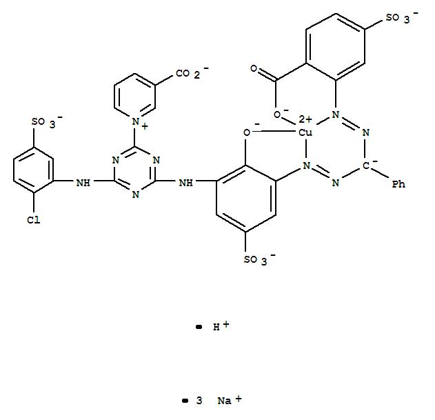 CAS:89797-01-3_[3-羧基-1-[4-[[3-[[[(2-羧基-5-磺苯基)偶氮]苯甲基]偶氮]-2-羟基-5-磺苯基]氨基]-6-[(2-氯-5-磺苯基)氨基]的分子结构
