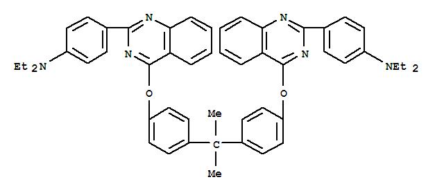 CAS:90677-64-8_4,4'-[(1-甲基亚乙基)双(4,1-亚苯基氧基-4,2-喹唑二基)双(N,N-二乙基)苯胺的分子结构