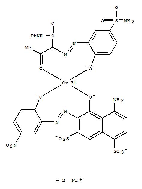CAS:94233-12-2_[4-氨基-5-羟基-6-[(2-羟基-5-硝基苯基)偶氮]-1,7-萘二磺酸根合][2-[[5-(氨基磺酰基)-2-羟基苯基]偶氮]-3-?的分子结构