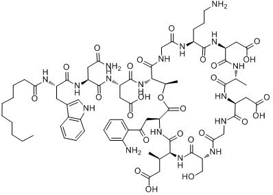 CAS:103060-53-3_达托霉素的分子结构