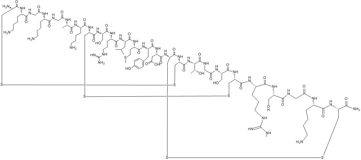 CAS:107452-89-1_醋酸齐考诺肽的分子结构