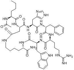 CAS:121062-08-6_美拉诺坦II的分子结构