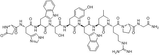 CAS:57773-63-4_曲普瑞林的分子结构
