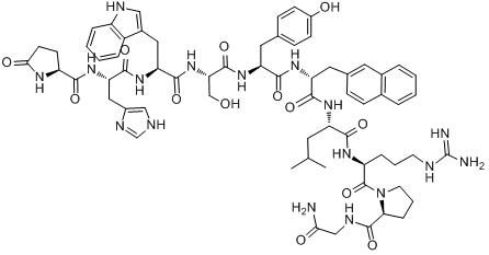 CAS:76932-56-4_那法瑞林的分子结构